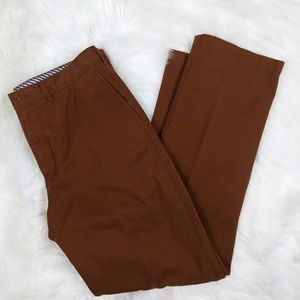 Rust Brown men's flat front Madison casual pants